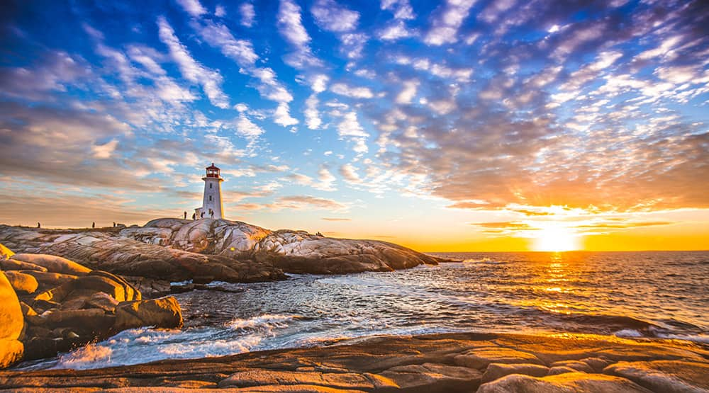 Halifax, Nova Scotia Lighthouse Sunset