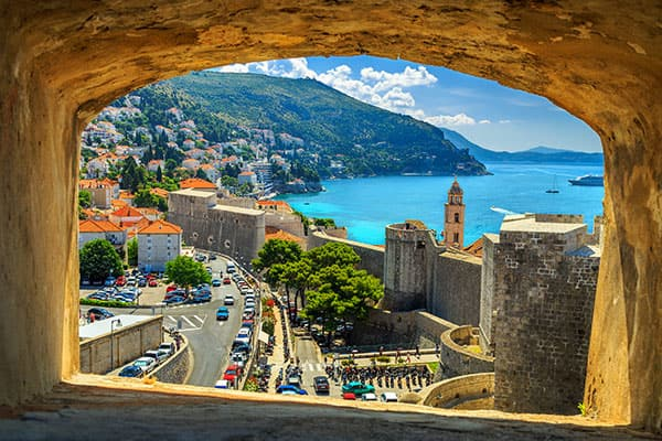 Beautiful window looking over Dubrovnik
