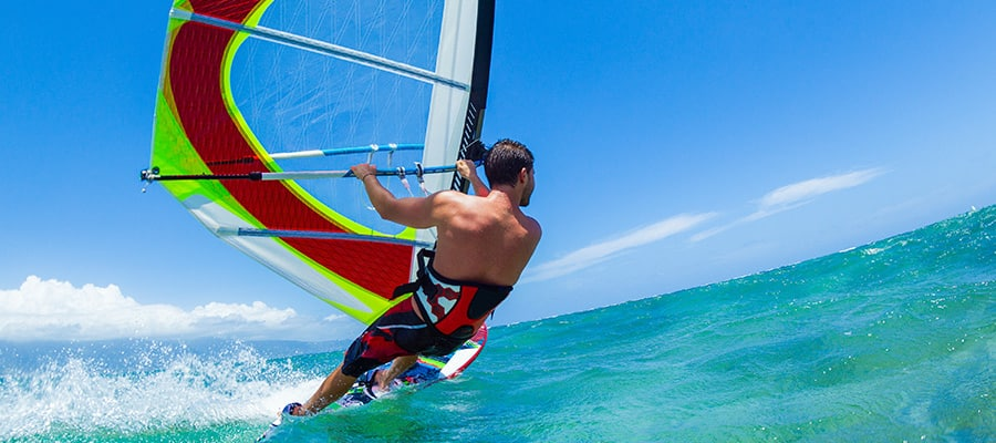 Windsurf on cruises to Safaga