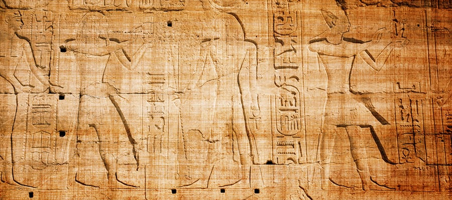 Carved hieroglyphics  on Safaga Cruises