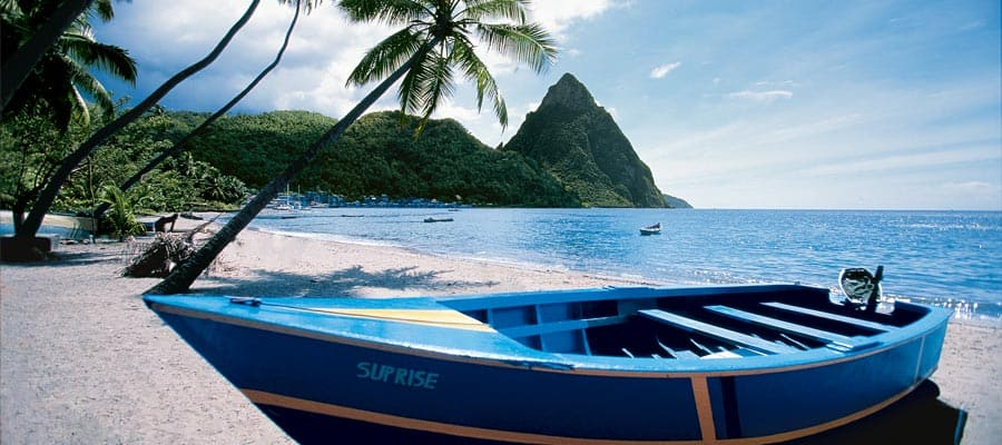 Cruise to the tranquility of the beaches in St. Lucia
